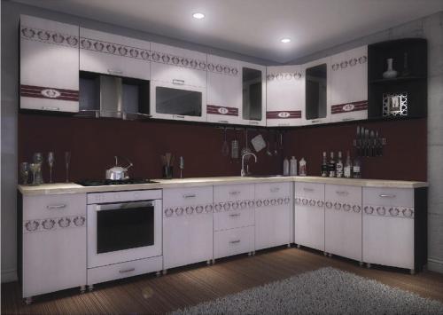 Кухня МДФ 14 размер 3,1*1,35 цена 75200 руб