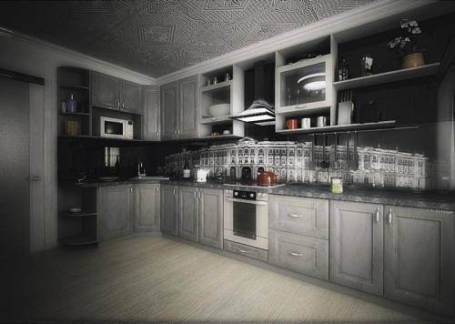 Кухня МДФ 16 размер 1,6*3,2 цена 81600 руб